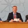 Porträtfoto von Minister Johannes Remmel während einer Landespressekonferenz