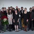 Kulturministerin Christina Kampmann mit den Gewinnerinnen und Gewinnern des Förderpreises 2015