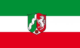 Bild mit Landesdientsflagge NRW