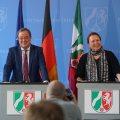 Ministerpräsident Armin Laschet stellt Frau Heinen-Esser als neue Umweltministerin vor.