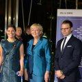 Ministerpräsidentin Hannelore Kraft empfängt das schwedische Kronprinzessinnenpaar und Außenhandelsministerin Dr. Ewa Björling in der Staatskanzlei