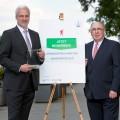 Wirtschaftsminister Garrelt Duin und Klaus Neuhaus, Vorsitzender des Vorstands der NRW.BANK