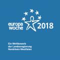 Blau-weißes Logo Europawoche 2018