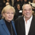 Das Bild zeigt den NRW-Staatspreisträger 2015 Günther Uecker und Ministerpräsidentin Hannelore Kraft
