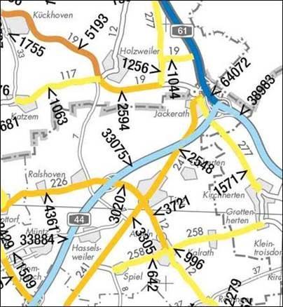 Neue Verkehrsstarkenkarte Das Landesportal Wir In Nrw
