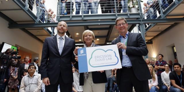 Ministerpräsidentin Hannelore Kraft besucht das Ericsson Eurolab-Forschungszentrum in Herzogenrath