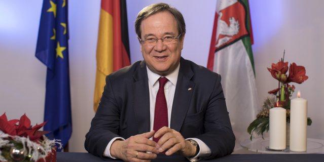 Ministerpräsident Armin Laschet bei seiner Neujahrsansprache für das Jahr 2018