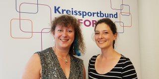 Staatssekretärin Andrea Milz mit Vizepräsidentin des Kreissportbunds Herford Frau Colette Pöppel.