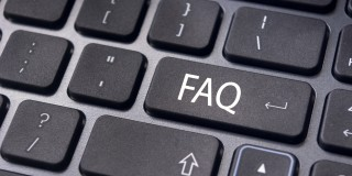 Bild einer PC-Tastatur mit der Abkürzung FAQ
