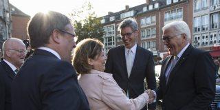 Begrüßung des Bundespräsidenten Steinmeier in Aachen.