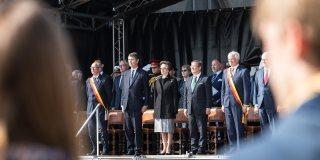 Ministerpräsident Armin Laschet zur 100 Jahres-Gedenkzeremonie in Zeebrügge.