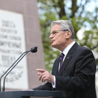 Bundespräsident Joachim Gauck hält eine Rede