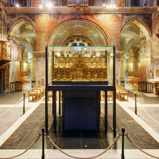 Innenaufnahme des Aachener Doms