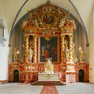 Innenaufnahme des Klosters Corvey