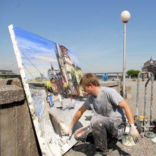 Maler am Rhein