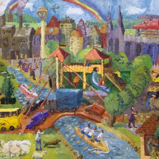Das Bild zeigt das Zweite-Siegermotiv des Kindermalwettbewerbs.