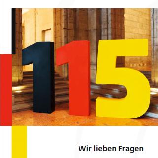 Logo D115 - Ihre Behördennummer
