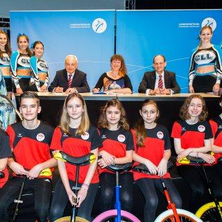 """Unterzeichnung der Zielvereinbarung """"Nr. 1: Sportland Nordrhein-Westfalen"""""""