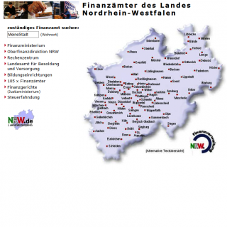 Website NRW-Finanzämter