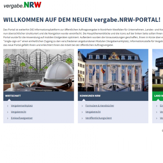 Website Vergabe.NRW