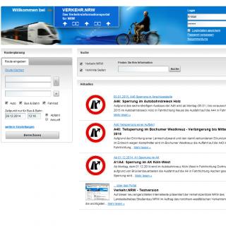 Website Verkehr.NRW