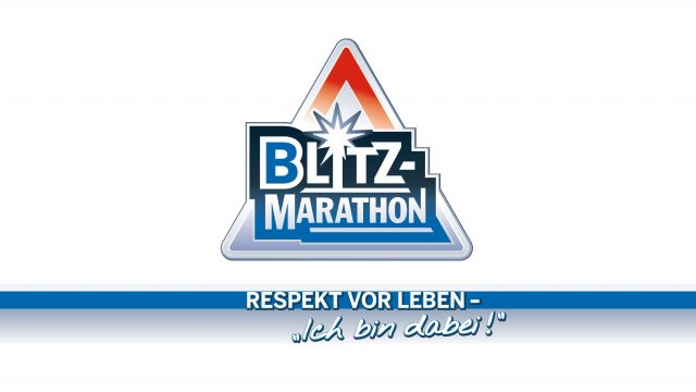 Bild Logo Blitzmarathon mit Claim