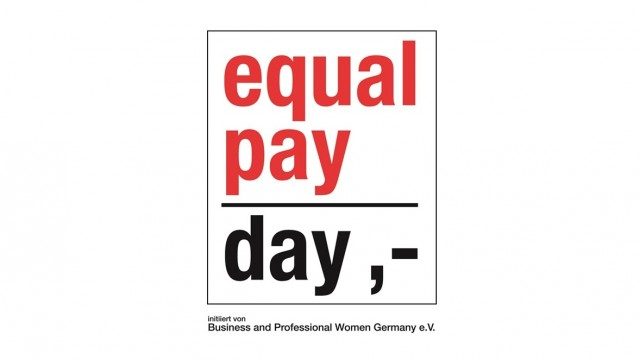 Log des Equal Pay Day mit dem selbigen Schriftzug