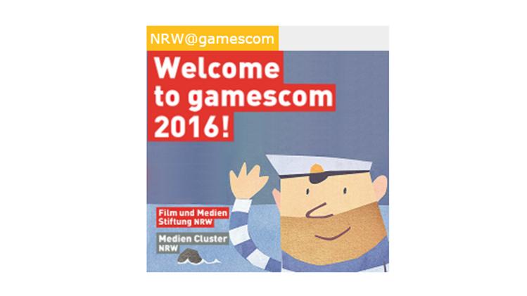 Logo des NRW-Stand bei der Gamescom
