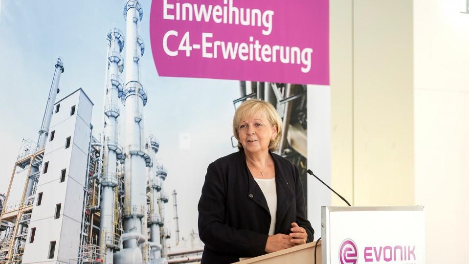 Grußwort von Ministerpräsidentin Hannelore Kraft bei der Einweihung der Erweiterung einer C4-Anlage in Chemiepark Marl