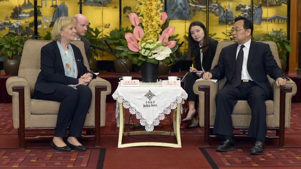 Ministerpräsidentin Hannelore Kraft und der Gouverneur der Provinz Jiangsu, LI Xueyong
