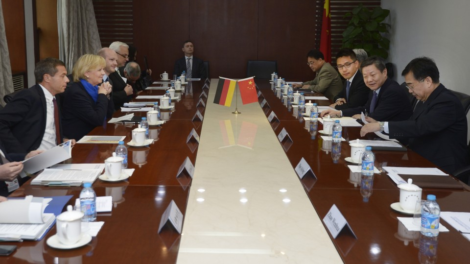 Delegationsgespräch mit Vizeminister für Urbanisierung und Stadtentwicklung, LU Kehua
