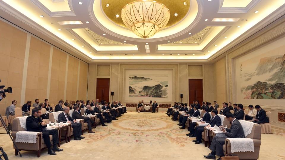 Ministerpräsidentin Hannelore Kraft trifft den Gouverneuer der Proviz Jiangsu, LI Xueyong in Nanjing