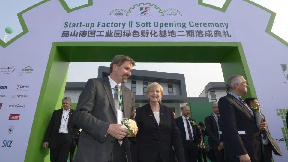 Ministerpräsidentin Hannelore Kraft besucht NRW-Unternehmen in der Startup Factory in Kunshan