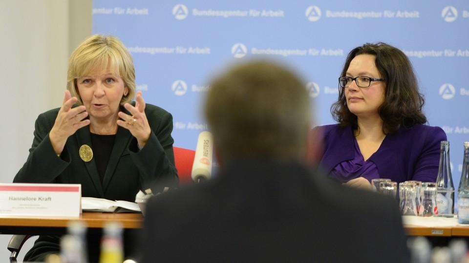 Bundesarbeitsministerin Andrea Nahles besucht Agentur für Arbeit in Düsseldorf