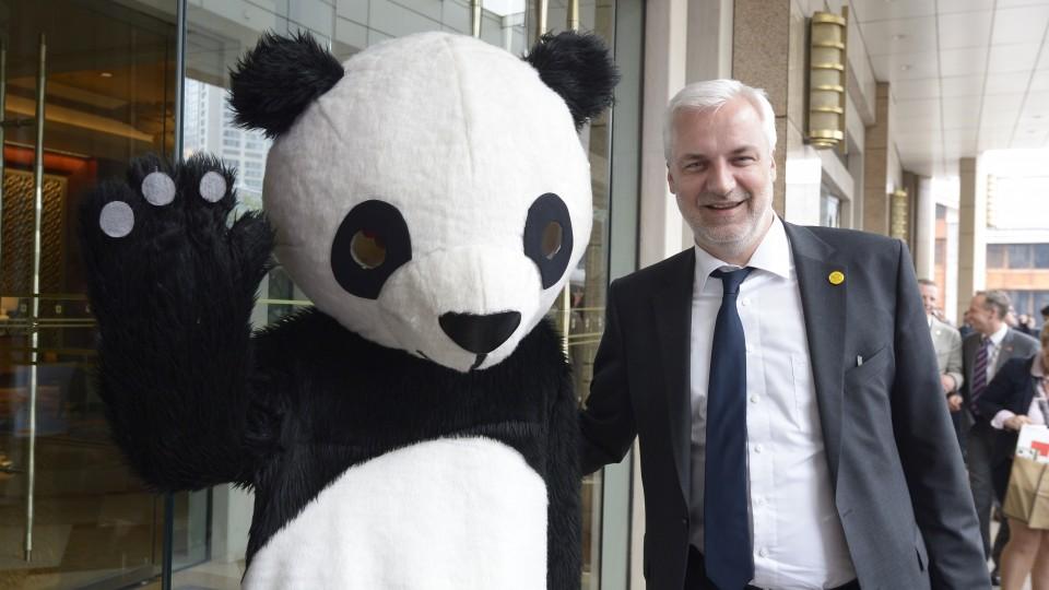 Begrüßung von Minister Duin in Sichuans Hauptstadt Chengdu