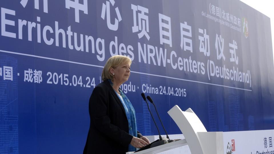 Feierlicher Startschuss zur Errichtung des NRW-Centers in Chengdu