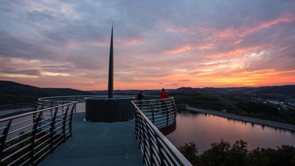 """Die Aussichtsplattform """"Biggeblick"""" in Attendorn"""