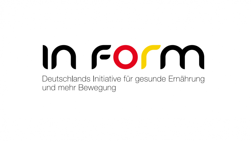 "Das Logo der ""In Form"" Initiative in Schwarz Rot Gold"