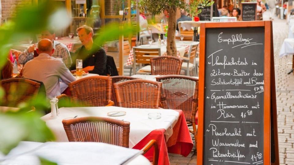 Bild eines Außenbereich eines Restaurants