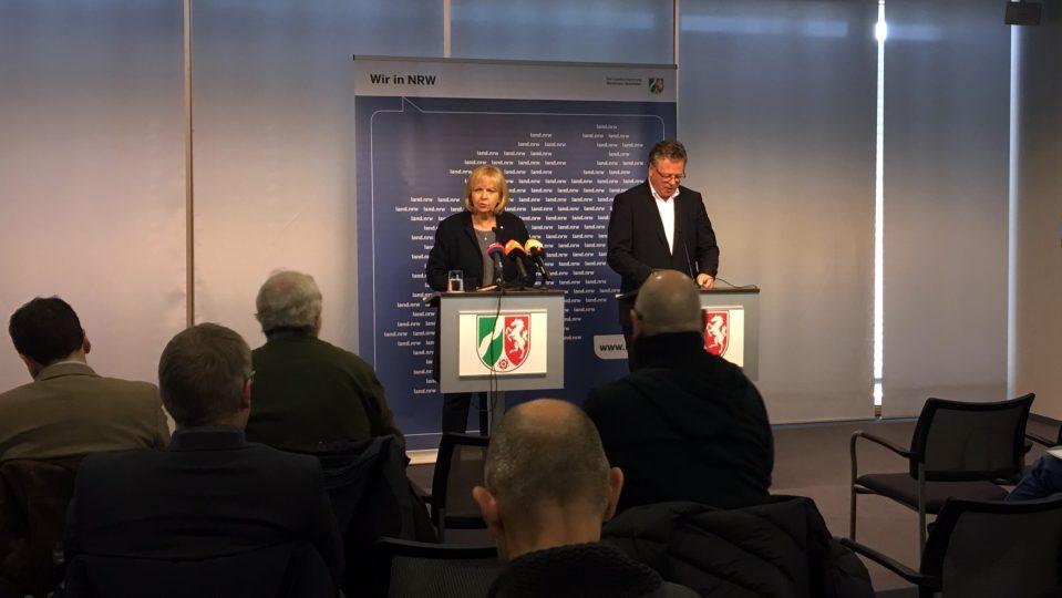 Pressekonferenz von Ministerpräsidentin Hannelore Kraft am 20. Dezember 2016 zu den Ereignissen in Berlin.