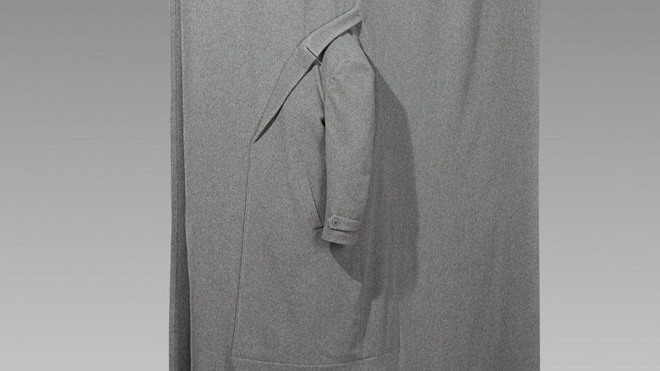 Abbildung eines Vorhangs mit Ärmel
