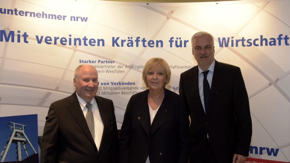 Ministerpräsidentin Hannelore Kraft und Wirtschaftsminister Garrelt Duin besuchen Spitzenverband der nordrhein-westfälischen Wirtschaft