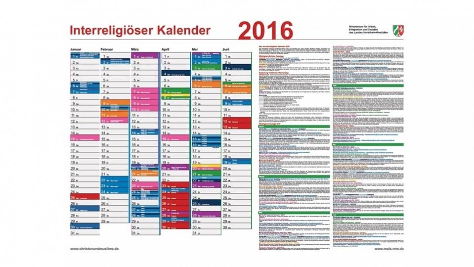 Interreligiöser Kalender 2016