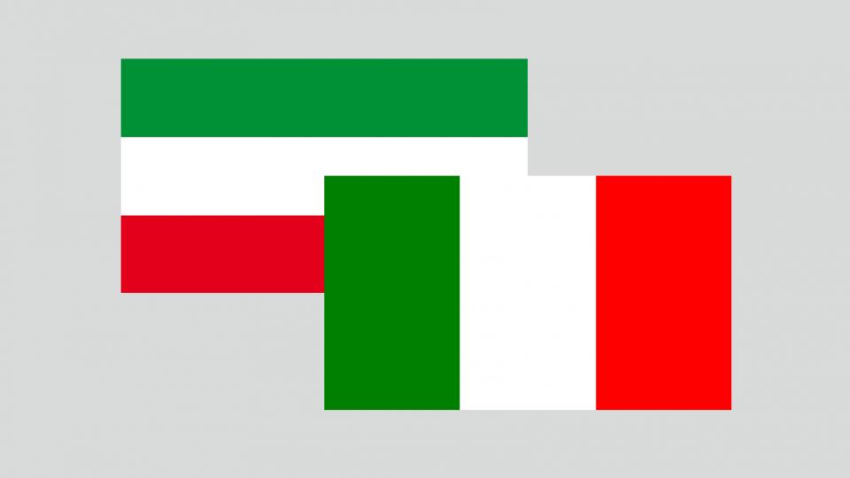 Bild Flaggen NRW und Italien
