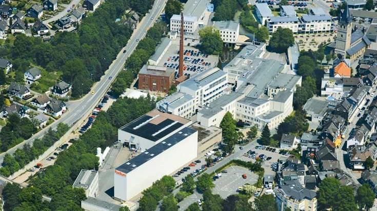 Luftaufnahme der Radium Lampenwerk GmbH