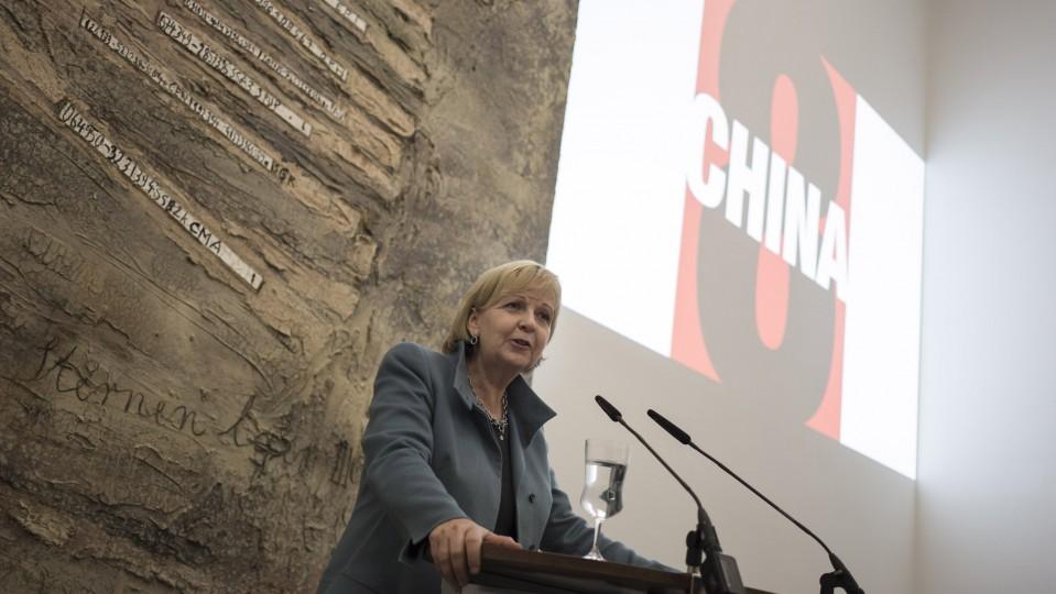 Das Foto zeigt Ministerpräsidentin Kraft am Rednerpult bei einer Veranstaltung