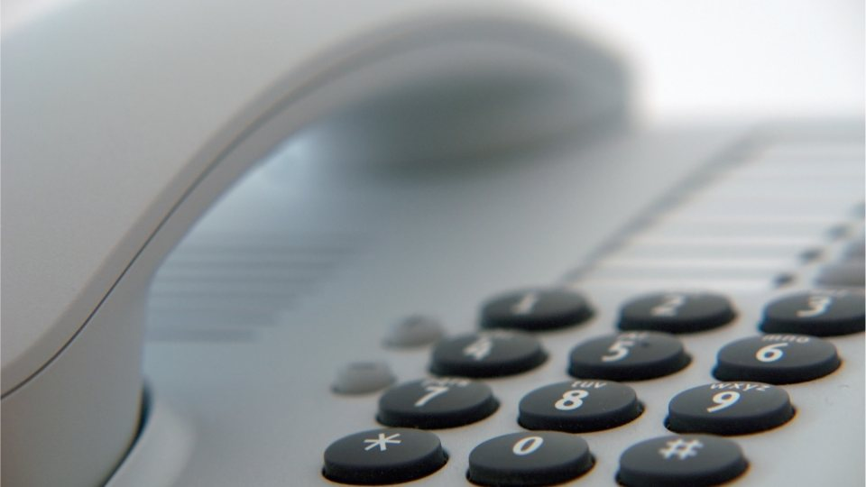 Bild Telefon (Nahaufnahme, weiß)