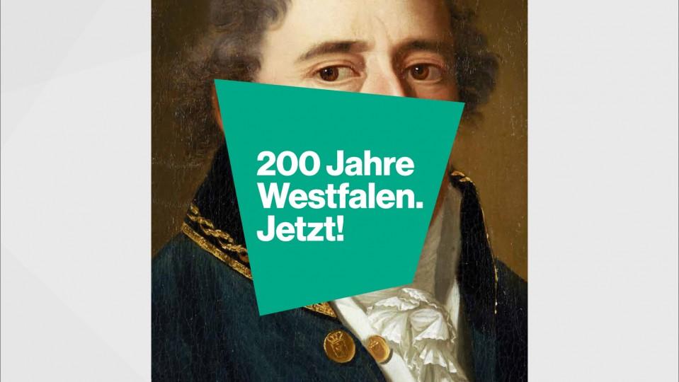"""Logo der Sonderausstellung """"200 Jahre Westfalen. Jetzt!"""""""
