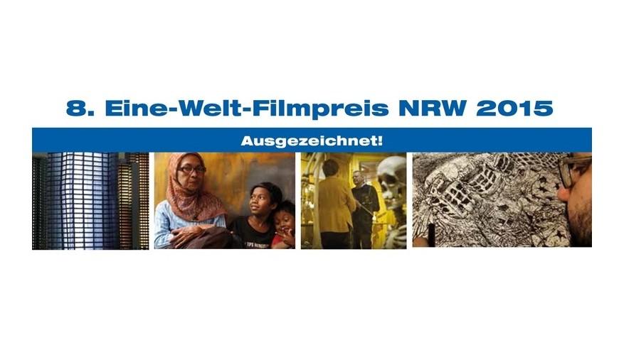 Logo zum 8. Eine-Welt-Filmpreises NRW