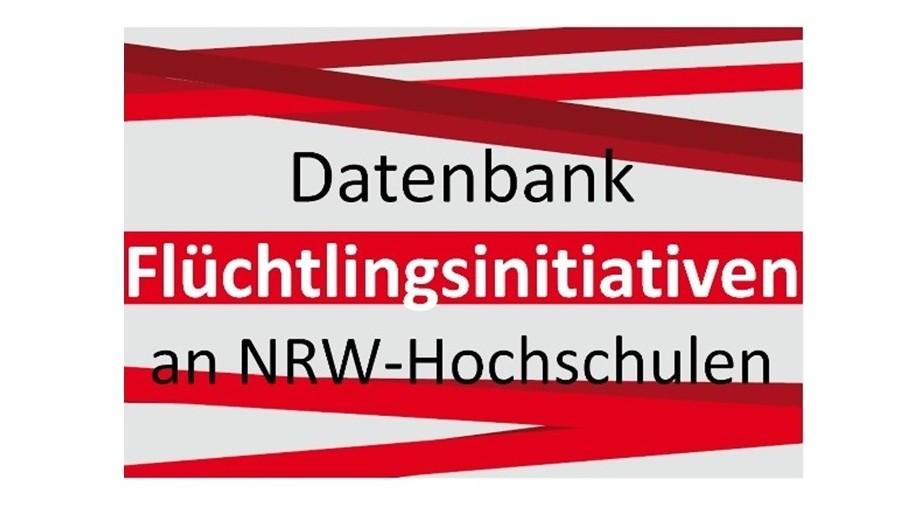 Logo Datenbank Flüchtlingsinitiativen an NRW-Hochschulen